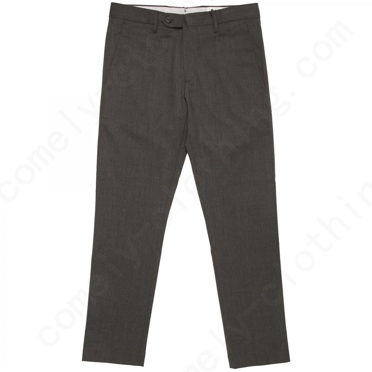 Nn07 Dark Grey Theo Trousers - Slim Fit Pants Mens - -0