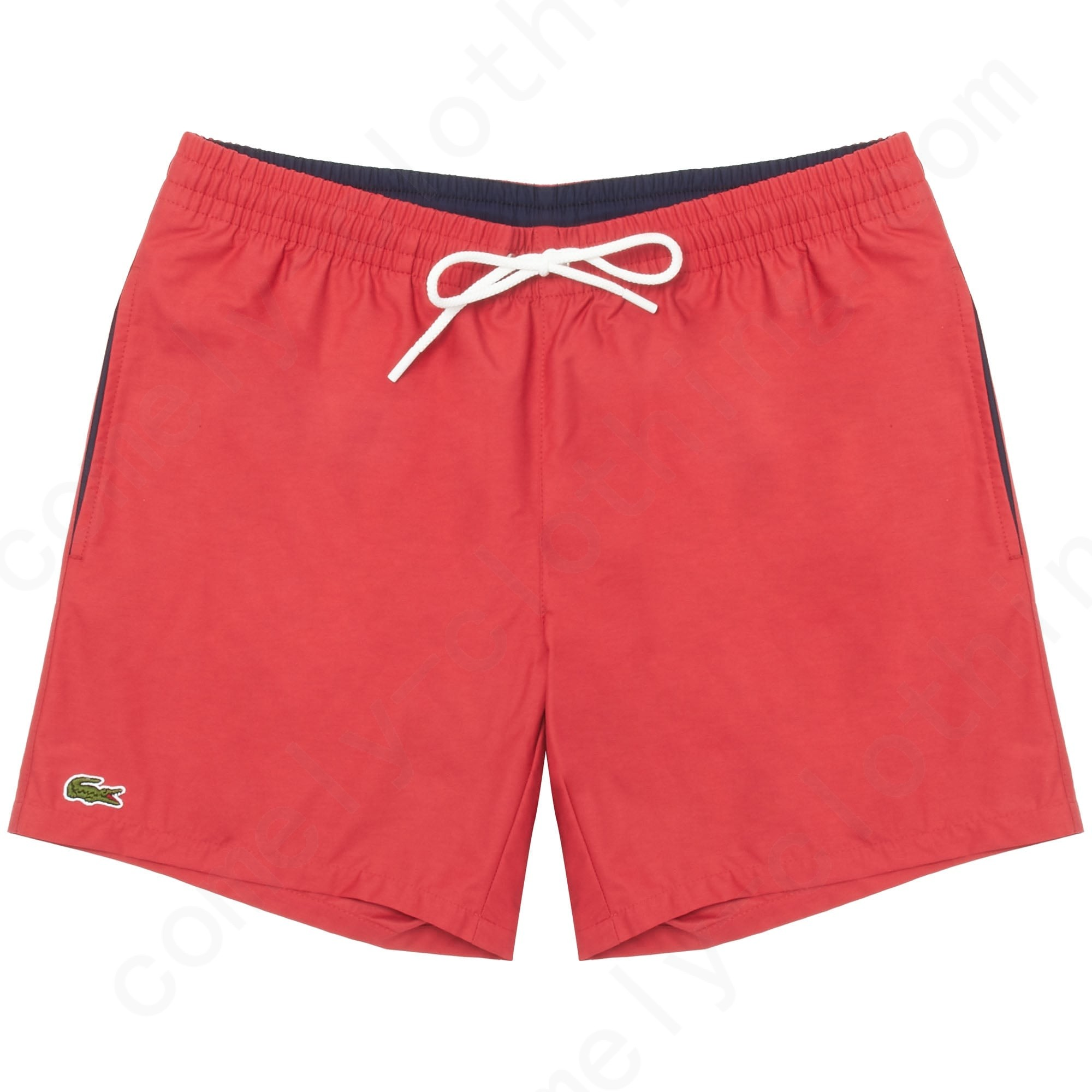 Lacoste Intense Red Swimming Shorts Mens - Lacoste Intense Red Swimming Shorts Mens