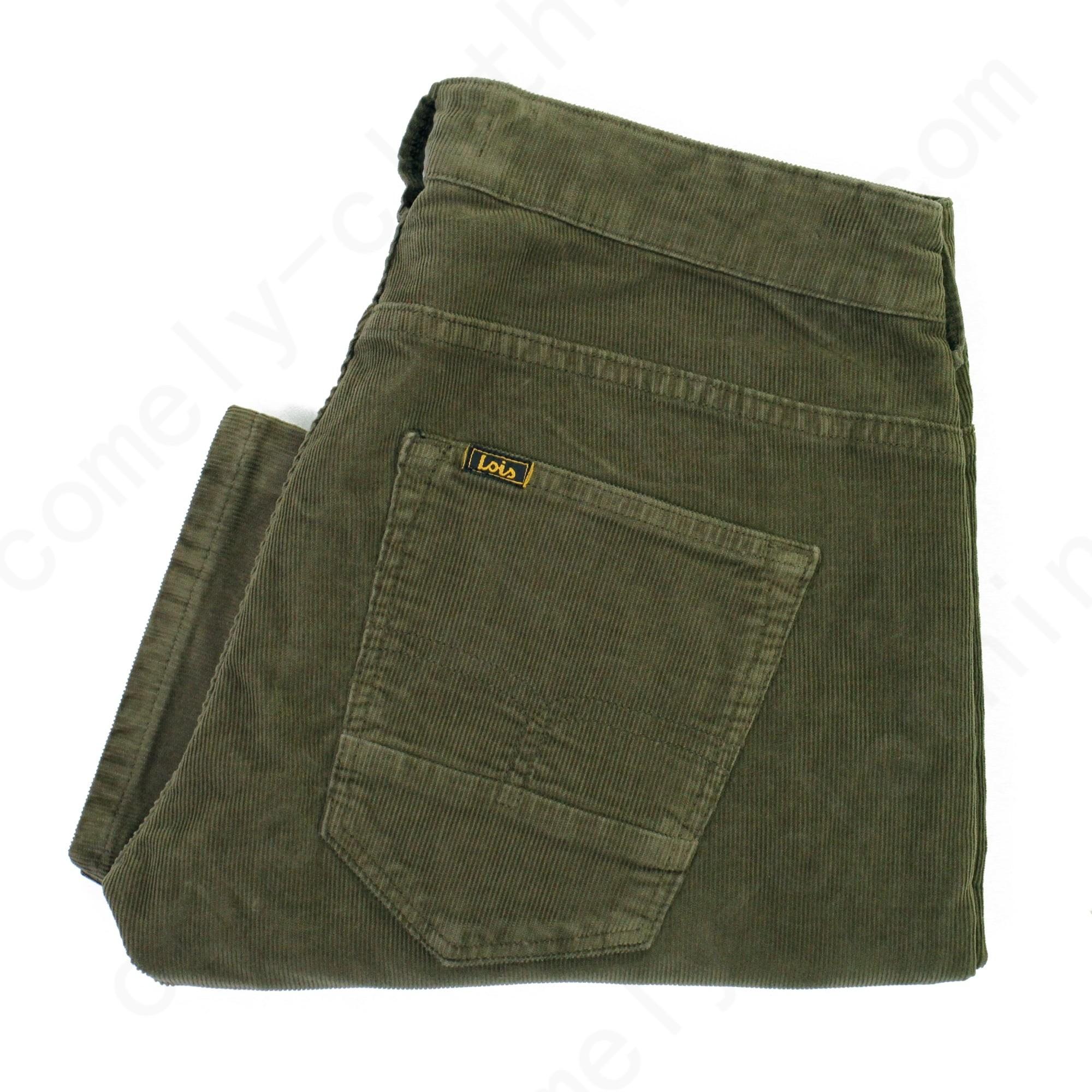 Lois Jeans Lois Sierra Thin Khaki Corduroy Trousers Mens - Lois Jeans Lois Sierra Thin Khaki Corduroy Trousers Mens