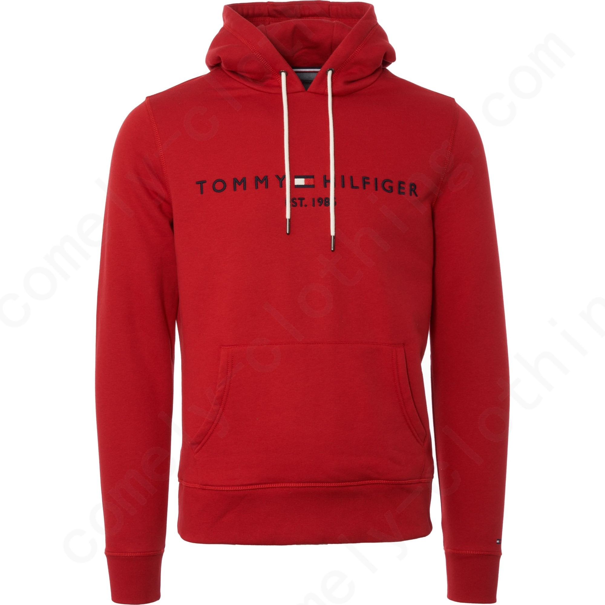 Tommy Hilfiger Tommy Logo Hoodie - Red Men - Tommy Hilfiger Tommy Logo Hoodie - Red Men